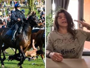 """La jeune femme percutée par un cheval de la police au Bois de la Cambre témoigne: """"Je suis tombée K.-O."""""""