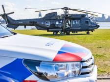 Helikopter rukt uit vanwege kapotte helikopter