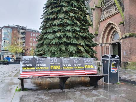 Tegenstanders grijze piet slaan alsnog toe op Catharinaplein en Stadhuisplein in Eindhoven