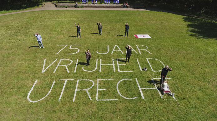 Drone boven Utrecht tijdens bevrijdingsdag 5 mei