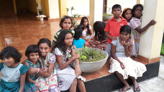Weeshuis dat is opgezet door de vanuit Goes opererende Stichting Netherlands Sri Lanka.