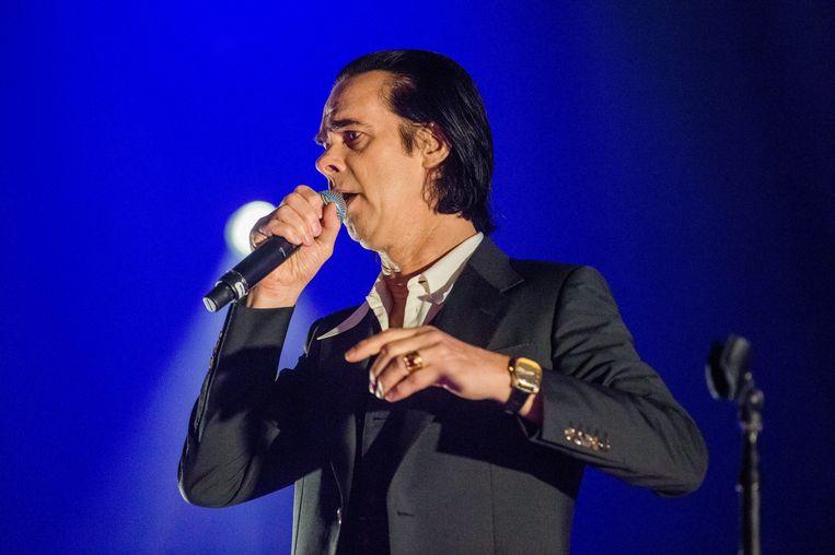 Nick Cave and The Bad Seeds staan bekend om hun bezwerende concerten. Beeld EPA