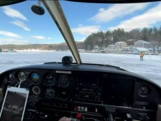 Bevroren meer in VS doet dienst als landingsbaan