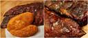 Dubbele kipfilet (links); en de smoked ribs zoet en special (rechts)