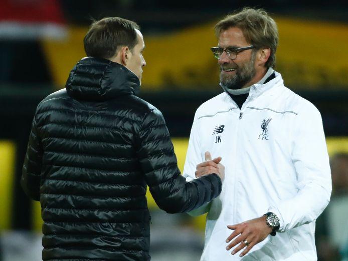Treffen Thomas Tuchel (links) en Jürgen Klopp elkaar binnenkort in de Premier League?