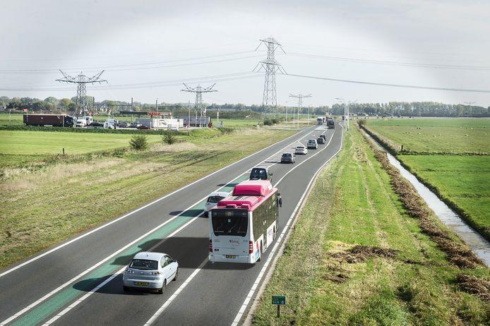 Fotomontage van de Maas en Waalweg, zoals die er na 2020 zou kunnen liggen.
