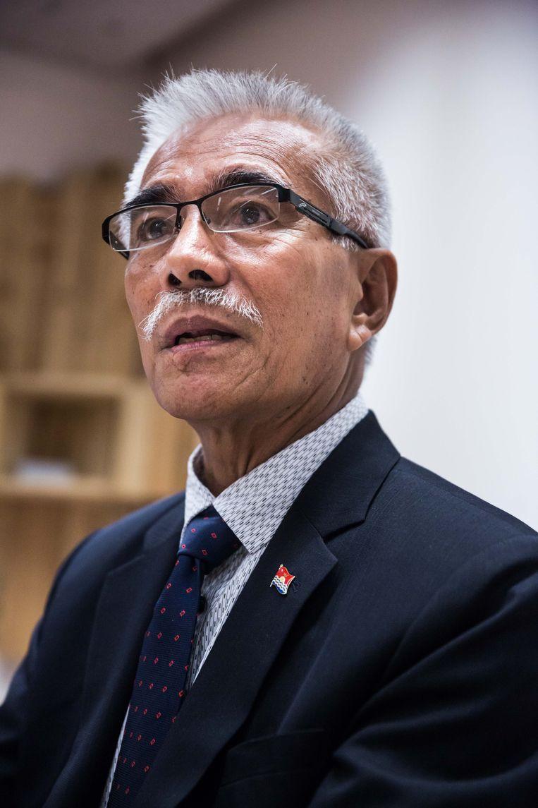 Anote Tong, ex-president Kiribati. Beeld Bas Bogaerts