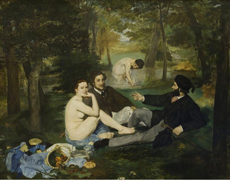 Le dejeuner sur l'herbe van Édouard Manet. Beeld © RMN (Musée d'Orsay) / Hervé Lewandowski