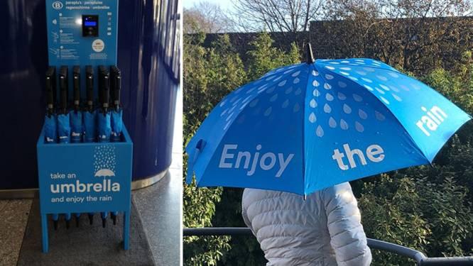 NMBS verhuurt nu ook paraplu's