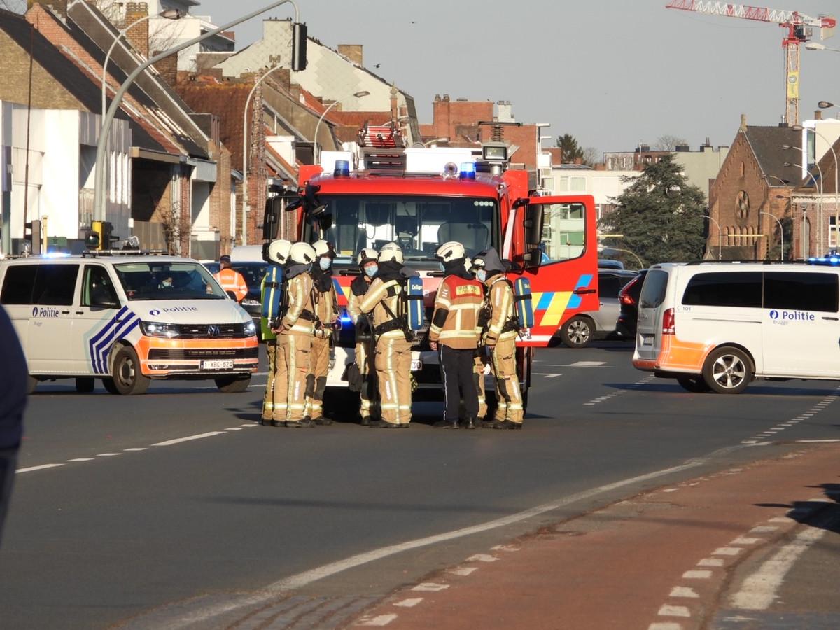 Gaslek in de Gistelse Steenweg in Sint-Andries.