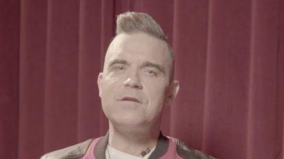 Robbie Williams wenst Koen Wauters en Jonas Van Geel succes met Rode Neuzen Dag