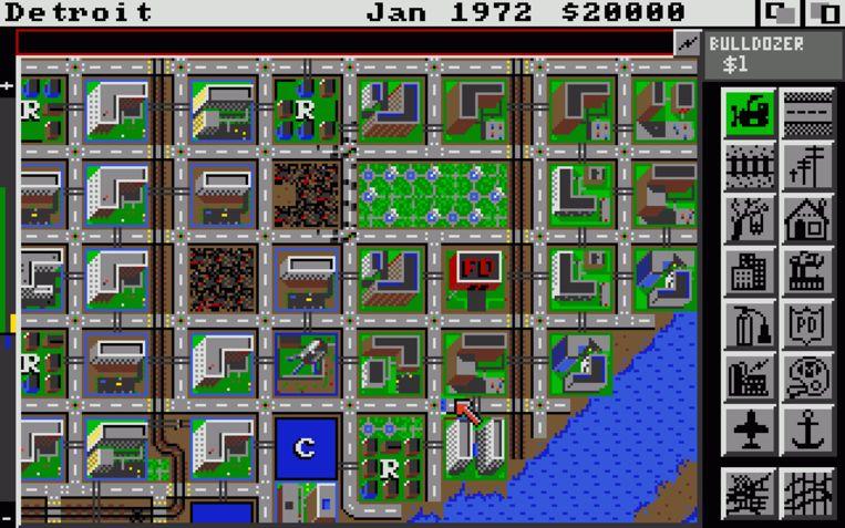 'SimCity' (1989) zette, samen met de eerste 'Civilization' (1991), het genre in gang. Beeld Electronic Arts