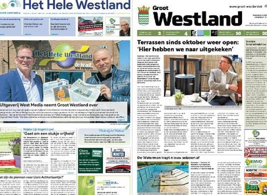 Voorpagina's Het Hele Westland en Groot Westland.
