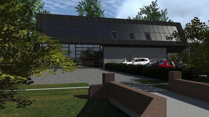 Ontwerp van de nieuwe brandweerpost voor Westbroek en Tienhoven.