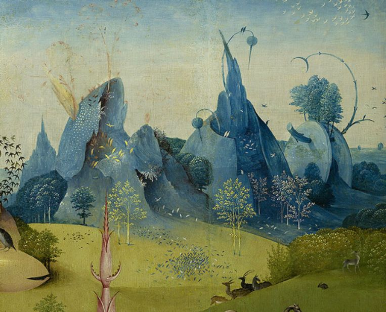 Van mevr. Rebecca Meelhuijsen, uit: De tuin der Lusten, Hiëronymus Bosch, 1503-15, Prado Madrid Beeld Prado Madrid