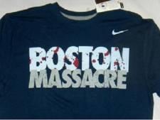 Nike haalt shirts met 'Boston Massacre' uit de handel