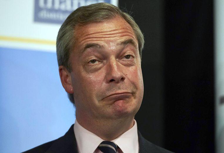Nigel Farage, de leider van UKIP. Beeld afp