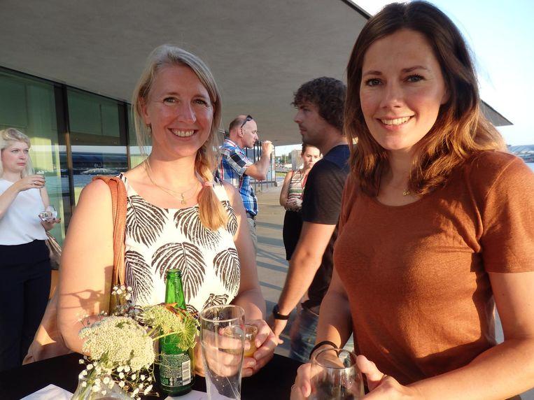 Freelance reisjournalist Linda van de Pavoordt (l) en Irene Bauer (G+J Media). Beeld Schuim