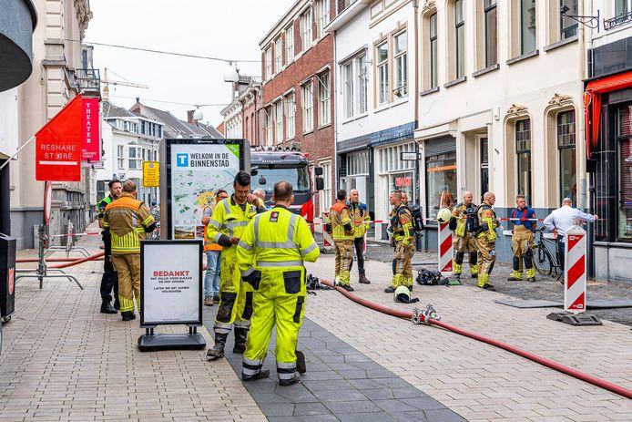 Gaslek in de Willem II Straat in Tilburg.