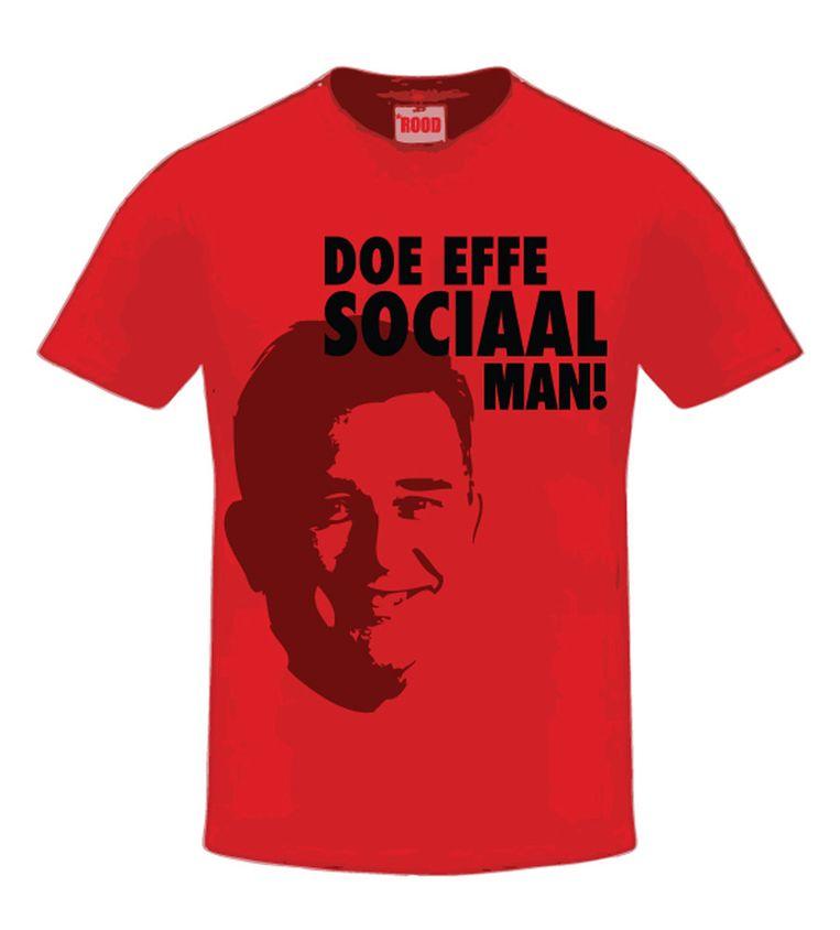 Het t-shirt van de SP. Beeld