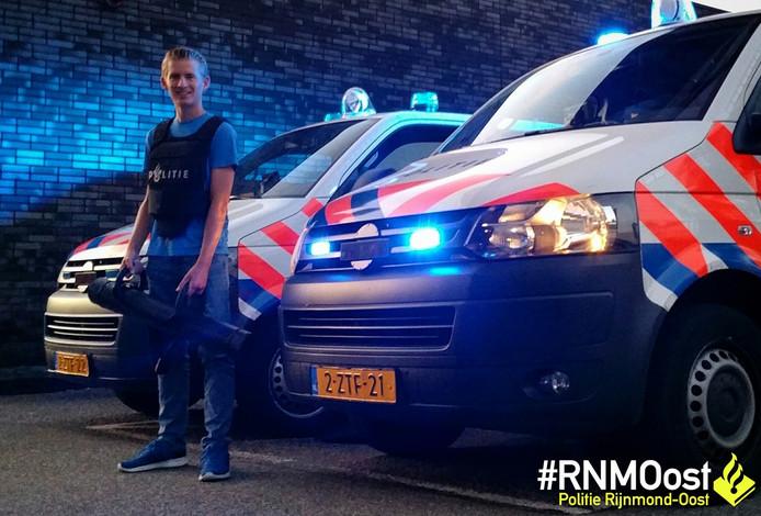 De 17-jarige Hans mocht dit weekend meelopen met de politie.