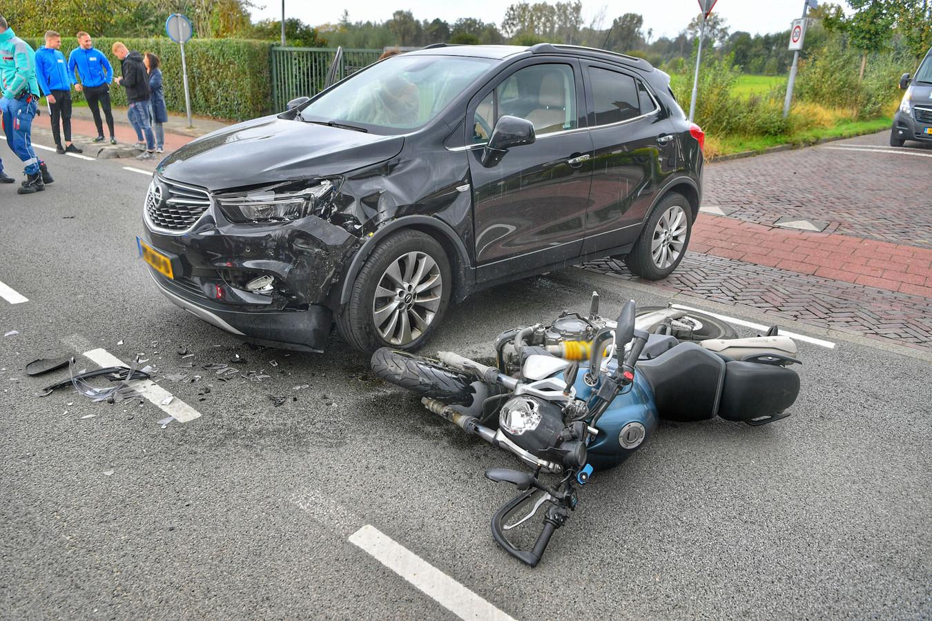 Motorrijder gewond bij ongeluk op Dommelseweg