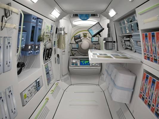 Het interieur van het ruimtehotel. © BRUNOPRESS