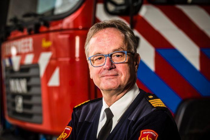Rob Bokdam, brandweercommandant van dienst in Twente tijdens de jaarwisseling.
