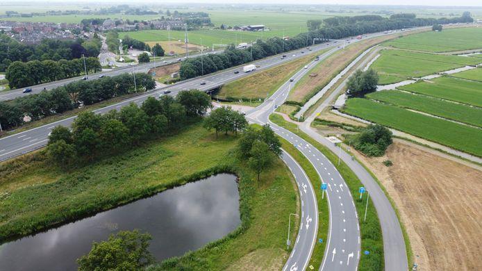 De oprit naar Den Haag zou een weg dicht gaan. De werkzaamheden gaan voorlopig niet door.