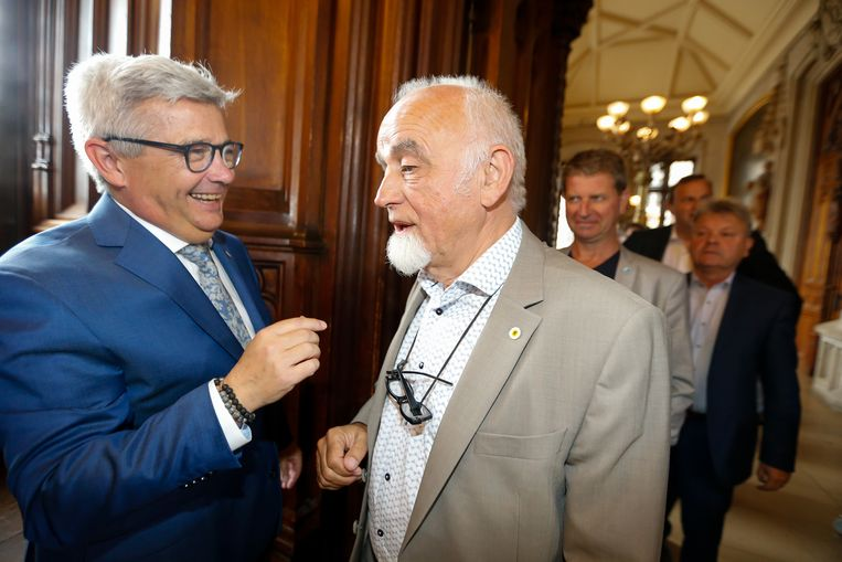 Kris Van Dijck en Jan Peumans. Beeld BELGA