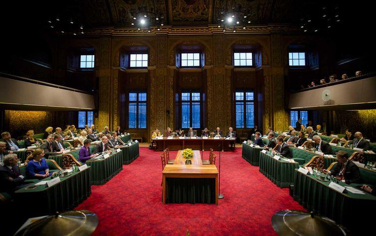 De debatavond in Den Haag. Beeld anp