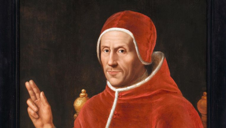 Portret van Paus Adrianus VI (1459-1523) door Jan van Scorel. Beeld Collectie Centraal Museum Utrecht