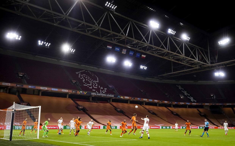 In de Nations League speelde Nederland op 4 september tegen Polen in een lege Johan Cruyff Arena.
