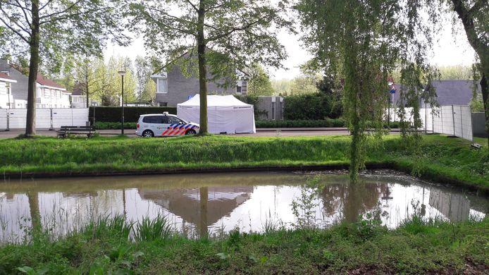 Zicht op de plaats delict aan de Renate Rubinsteinstraat in Schijndel.
