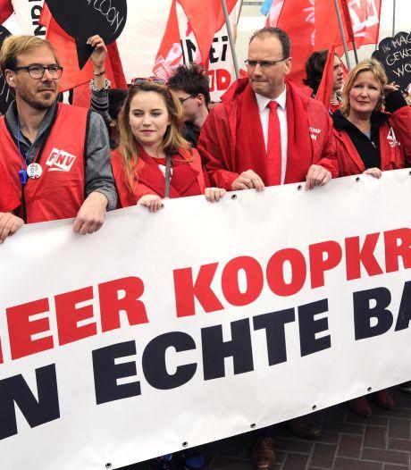 Mars en manifestatie op Dag van de Arbeid