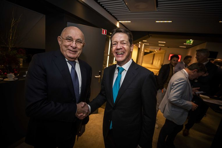 Michael van Praag en Just Spee. Beeld ANP