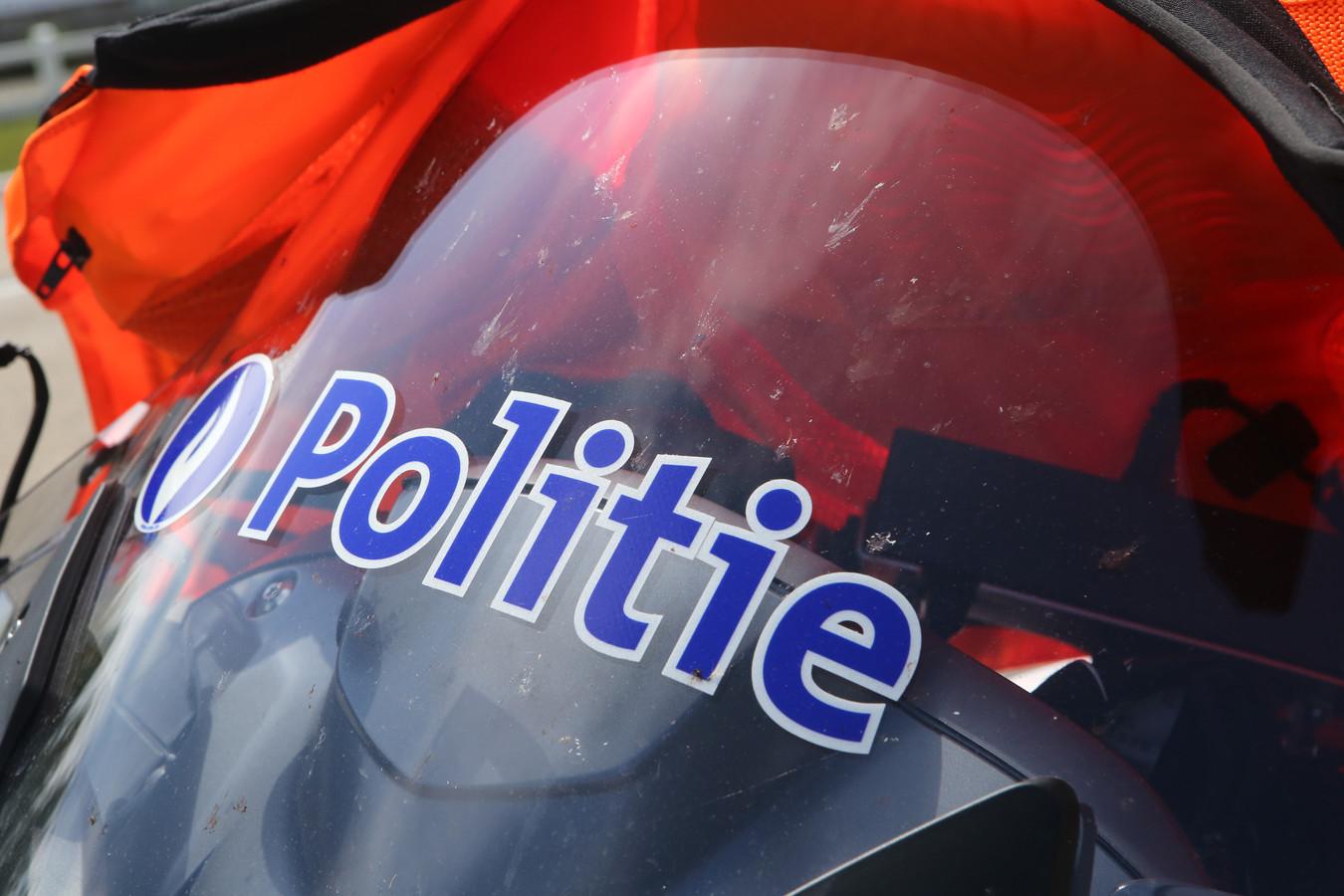 De politie zette in de Vossekotstraat een wagen aan de kant.