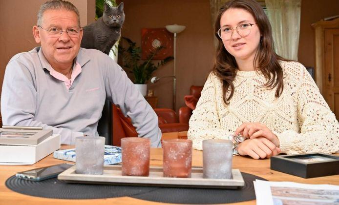 Gérard Heuer et sa fille Marissa.