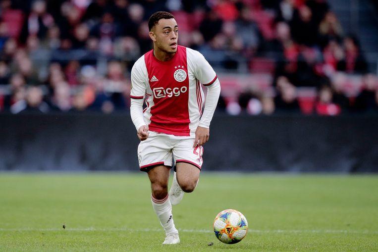 Sergiño Dest tijdens de wedstrijd tegen FC Utrecht. Beeld BSR Agency