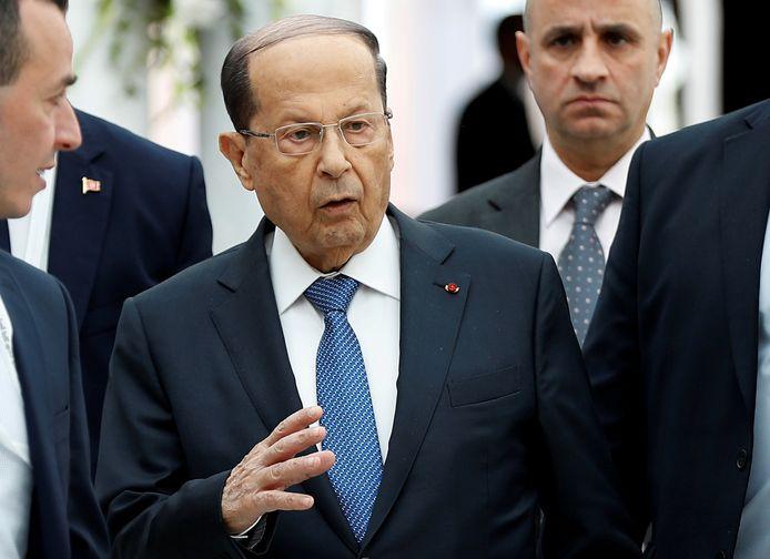 President Michel Aoun van Libanon.