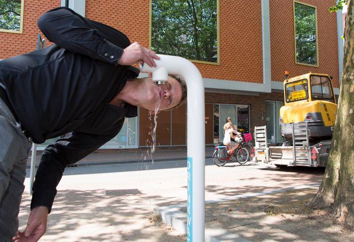 Een van de watertappunten in Nijmegen.