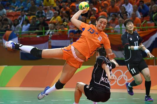 Yvette Broch op de Olympische Spelen in Rio de Janeiro in 2016, waar Nederland vierde werd.