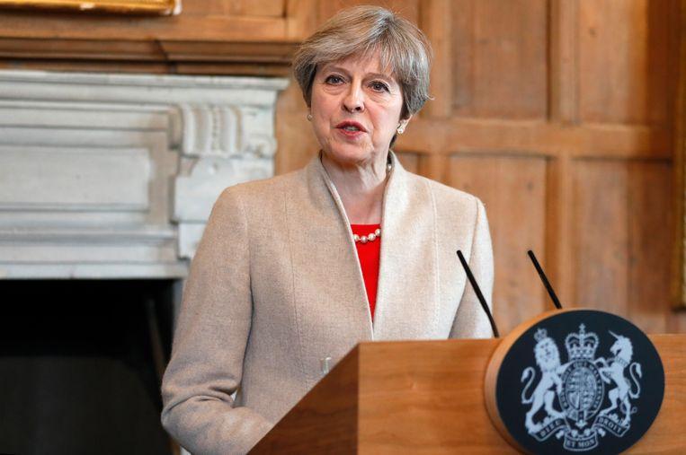 De Britse premier Theresa May Beeld AP
