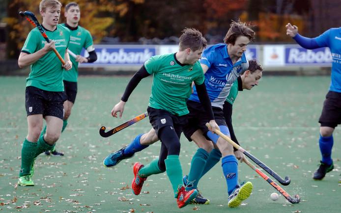 De hockeymannen van Upward winnen met 4-6 bij Beuningen. Archieffoto.