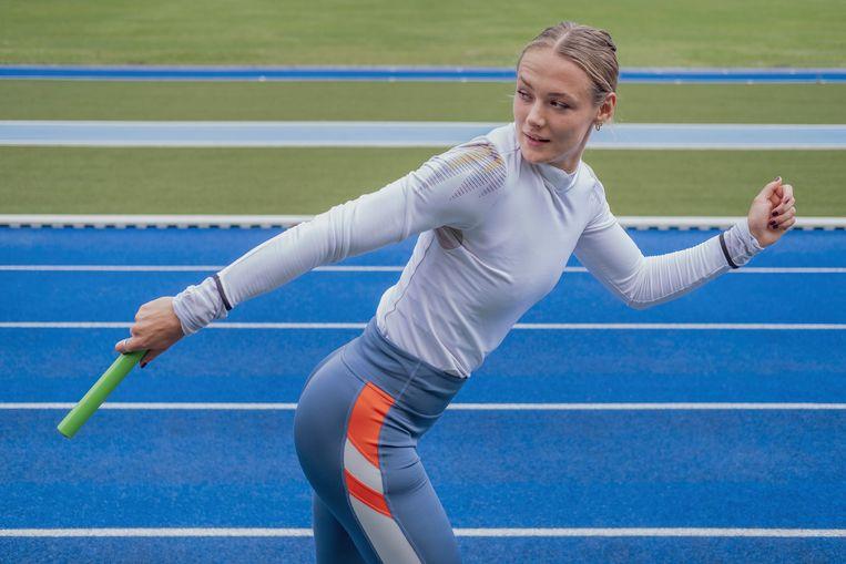 Atlete Lieke Klaver brak vorig seizoen internationaal door. Beeld Patrick Post