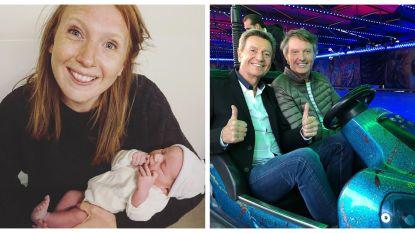 SHOWBITS. Babygeluk voor Linde Merckpoel en deze twee kapoenen zitten samen in de botsauto's