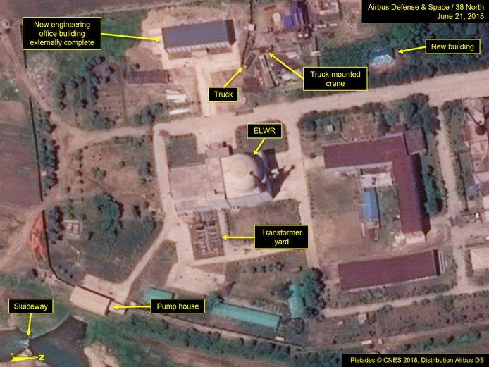 Op satellietbeelden van 21 juni zijn aanpassingen aan het Yongbyon-atoomcentrum te zien.