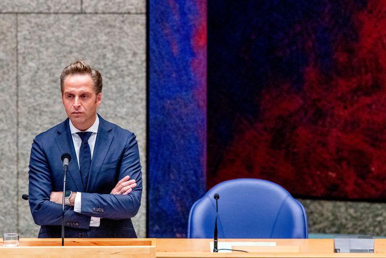 Minister Hugo de Jonge (Volksgezondheid, Welzijn en Sport) kreeg veel kritiek na zijn uitspraken dat bepaalde coronaregels langer gelden voor mensen zonder vaccinatie.   Beeld BSR Agency
