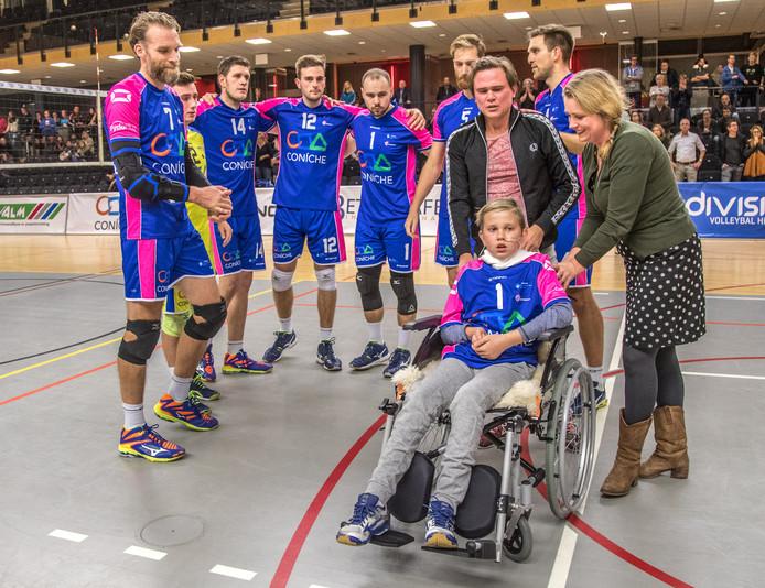 Tobias bij VC Zwolle.