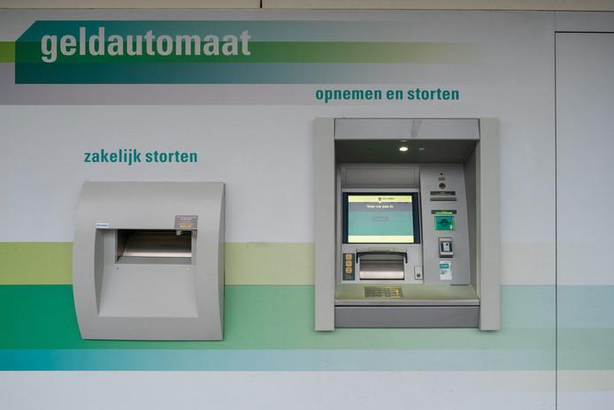 Een geldautomaat van ABN Amro.